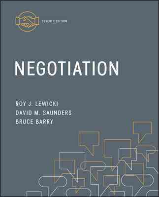 Negotiation By Lewicki, Roy/ Saunders, David/ Barry, Bruce